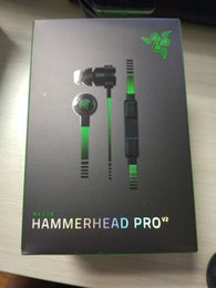 Wholesale 2016 Hammerhead Pro V2 In Ear Earphone Headphone With Microphone mic Retail Box Gaming Headset best quality Noise Isolation mm