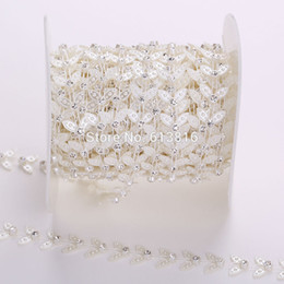 10Yards Pearls Rhinestones Chain Garland Flowers Wedding Party Decoration