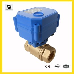 Wholesale CWX DN15 brass way motorized ball valve DC3 v CR01 two wires electric ball valve for water treatment water leakage
