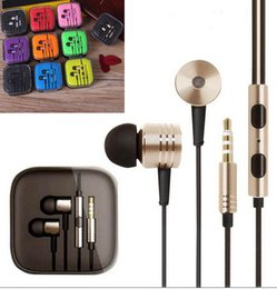 Wholesale 2016 best big promotion good Quality XiaoMi Earphone W Mic For Apple IPhone mobile phone Earbuds Headset Headphone With Retail Package