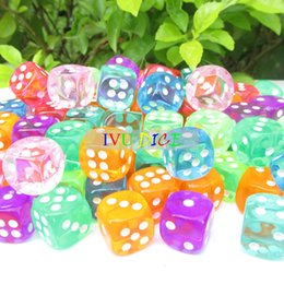 Wholesale 20pcs MM D6 More colors Dice Transparent point automatic game KTV mahjong machine dice IVU