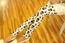 Wholesale 2016 New d Print SKULLS WHITE Women Leggings Summer Style Sport Black Milk Punk Rock Adventure Time Pattern Casual Leggings