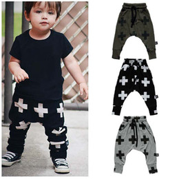 Wholesale 2016 New Fashion Boys Pants Harem Pants For Girls Cross Star Children Boy Toddler Child Trousers Baby Clothes Cross Pants