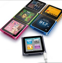Hot FM Radio Clip 6th Gen MP4 player 1.8 inch screen Support micro sd 4 8 16 32 gb   tf includes headphones and mini USB cable