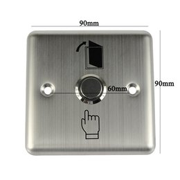 Wholesale 10pcs Metal Momentary Exit Release Button Switch V LED For Door Access Control F1659D