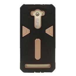 Protection téléphone cellulaire en Ligne-pour Asus Zenfone 5 2 Laser Go Max selfie Hybrid Case Cell Phone Mobile Back Cover Armure Shell Protector antichoc PC + TPU double-protection
