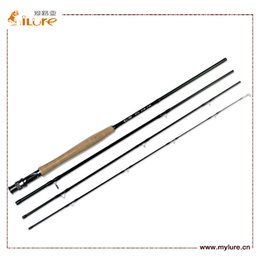 Wholesale ILURE Carbon Fly Fishing Rod Four Section m Carbon Fishing Rods EVA Handle Provides Fly Fishing Packages