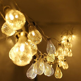 Wholesale Battery Operated led string LED Metal Drip String Lights Patio Wedding Party Christmas lights Bedroom Holiday Decoration