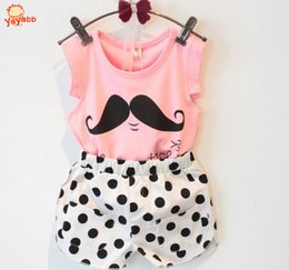 Wholesale 2016 New Casual Girl Set Short T shirts Pants Tracksuit For Girl Kids Summer Clothes Girls Clothing Sets Vetement Fille
