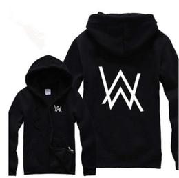 Wholesale Rock Star Alan Walker Faded Printed Hoodies Autumn amp Winter Hiphop Fleece Warm Zip Jackets With A mask