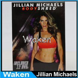 Wholesale Best Price Jillian Michaels BODYSHRED Workout DVD Base Kit BONUS DVD DVD INCLUDED Fitness workout BRAND NEW VS T25 day extreme