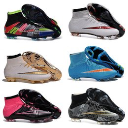 Wholesale Factory outlet Mercurial Superfly FG Laser Orange White Black Boots best selection of soccer cleats Mens Football Boots Kids shoes