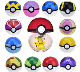 Wholesale New cm Poke Pokeball ABS Figures Japanese Hot Anime PokeBall Kids Toys Cosplay Collections Gifts Super Master Ball Best gift cc724