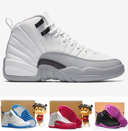 Wholesale 2016 air retro homme ovo blanc GS barons valentines Jour Dynamique blanc Grippe rose jeux hyper Violet filles Femme XII basket ball
