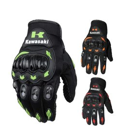 2016 New Kawasaki outdoor riding gloves protective breathable bike riding motorcycle racing gloves 3 kinds of colors and size M L XL XXL