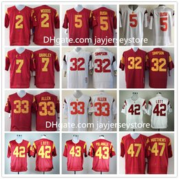 Wholesale USC Trojans Jersey Ncaa College Reggie Bush Robert Woods Marcus Allen Ronnie Lott O J Simpson Matt Barkley Troy Polamalu Clay Matthews
