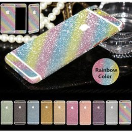 Wholesale Full Body Bling Decal Glitter Back Film Sticker Case Cover For iPhone plus s plus s s Galaxy S7 S7 Edge S6 S5 S4 Note