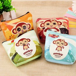 Wholesale 2016 Colors Available Cute Cartoon Monkey Printing Women Key Wallets Fashion Cartoon Wallats For Women New Style Key Holder