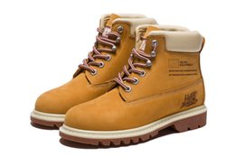 Authentic Brand Motorcycle Boots Casual 6-Inch Premium Boots Women Waterproof outdoor 10061 Wheat Nubuck boots size 36-39