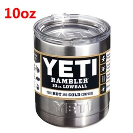 Wholesale 10oz Yeti Rambler Tumbler Stainless Steel Vacuum Insulated Cup Double Walled Travel Mug Car Beer Coffee Cup