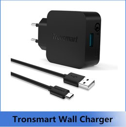 Wholesale 10pc DHL Tronsmart TS WC1Q Quick Charge Rapid USB Wall Charger for Asus Zenfone Samsung Galaxy Xiaomi