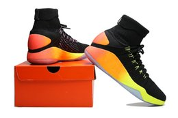 Wholesale 2016 New Hyperdunk Unlimited Black Colorful Basketball Shoes Men Rio Olympic Cheap Oreo Sneakers for Sale USA sIZE us7