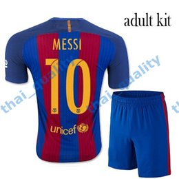 Wholesale 2016 Barcelona Uniform Kits Soccer Jerseys Top Quality Home Away MESSI ARDA A INIESTA SUAREZ SERGIO PIQUE I RAKITIC Soccer Jerseys