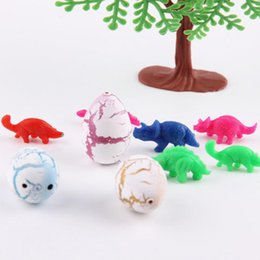 10pcs set Novel Water Hatching Inflation Dinosaur Egg Watercolor Cracks Grow Egg Educational Toys Interesting Gift