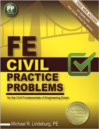 USED In stock 2016 New FE Civil Practice Problems by Michael R. Lindeburg PE (Author) 978-1591264408 free shipment