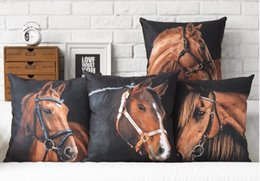 Red Sweat Racing Horses And Horse Animal Life Photography Emoji Pillow Massager Pillows Home Decor Plants Home Gift