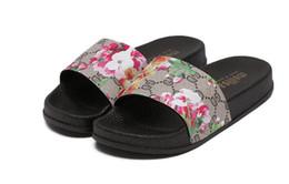 flip flops flats FLOWER PRINTED ladies shoes BEACH black sandals