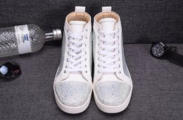 2016 New Cool Fashion Quality Leather Ankle Boots Rhinestone Women Spring Autumn New comfortable national white color