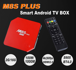Android 5.1 TV Box M8S Plus M8s+ Set Top Box Amlogic S905 2G 16G Build-in WiFi Bluetooth 4.0 M8S M8s+
