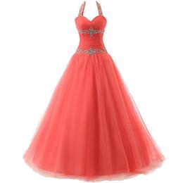 Wholesale Evening Gown Plus Size Vestido De Festa Longo Com Renda Halter Ball Gown Prom Dresses