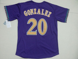 2016 Arizona Diamondbacks #20 Luis Gonzalez Throwback Purple White Striped Mens Baseball Jerseys S-3XL Cheap Wholesaler in China