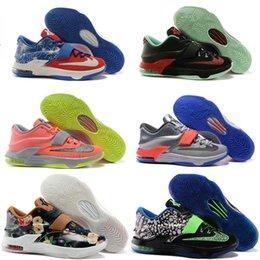 Drop expédition de gros bon marché des joueurs célèbres KD 7 bas hommes chaussures occasionnels taille 7-12 à partir de kd chaussures hommes taille 12 fabricateur