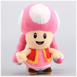 Wholesale 6 quot cm Toadette Plush Toy Super Mario Plush Toys Mushroom Toadette Stuffed Plush Toy For Baby Gifts