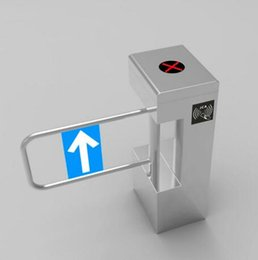 Wholesale Automatic attendance card ticketing system security entrance walkway waterproof infrared system of vertical swing gate machine
