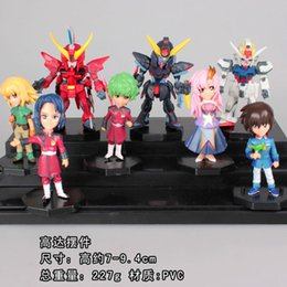 Wholesale Japan Anime Gundam Seed PVC Action Figure Collection Model Toys set OTFG035