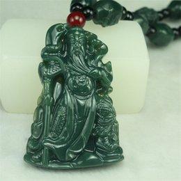 Wholesale Singapore Hetian Jade - 100% pure natural handmade xinjiang hetian jade pendant, goalkeeper guan yu NR