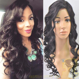 Full lace wigs silk top wigs peruvian human hair full lace&front lace wigs deep wave natural color baby hair