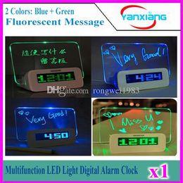 Alarme 1pcs multifonction Digital Light LED Clock Fluorescent message Panneau Snooze Calendrier Minuteur Température + surligneur YX-LYD-01 à partir de avis dirigés fournisseurs