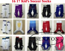 Wholesale Benwon Kid s soccer socks Knee High stocking AC Milan Thicken Towel Bottom long hoses Madrid sports socks Chelsea football stocking
