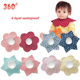 360-degree Infant Bibs 4-layer Waterproof Three-dimensional Baby Pinafore Apron Baby Wear Accessories Saliva Bibs Burp Cloths Kerchief B509