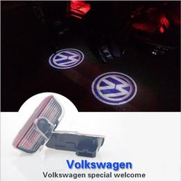 Wholesale Car Ghost Shadow Door Weclome Light With Volkswagen Logo Projector For VW Passat B6 B7 Tiguan Jetta MK5 MK6 CC EOS Golf