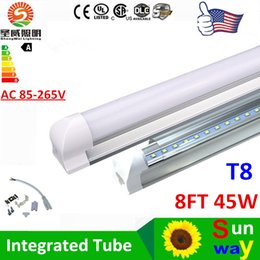 Wholesale 2016 Best LED tube lights T8 Integrated Led Tube Lighting ft W M SMD2835 Warm Cool White Replace Fluorescent Tubes AC85 V