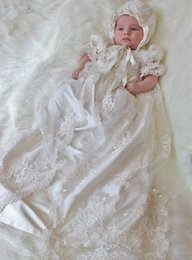 Wholesale Beauty Hot Sale New Robe Angela West Baby Girls First Communion Dress Lace Baptism Christening Gown Custom