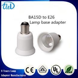 A prueba de fuego PBT CE RoHS BA15D al adaptador de la lámpara E26 llevó la lámpara de la lámpara CFL E26 ~ BA15D titular de la lámpara desde incendios cfl fabricantes