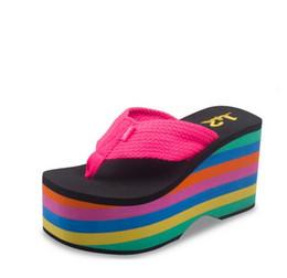 Flip-flops female antiskid summer super thick bottom with sponge cake cool slippers, beach shoes, sandals women