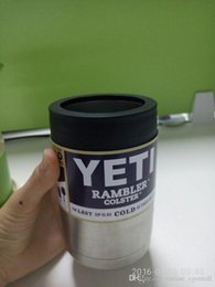 Wholesale Drink Holder oz YETI Rambler Colster Vacuum Insulated Tumbler Mugs cup Insulated yeti Stainless Steel Yeti Car Beer Cup